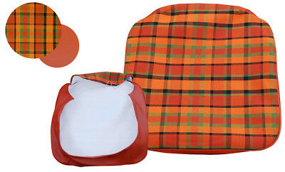 T2 Westfalia Early Bay Front Seat Base Cover in Orange Plaid as original C9545O