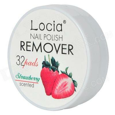 Scented Nail Polish Remover Wipes - Shellac UV LED Gel Tacky Layer - Strawberry