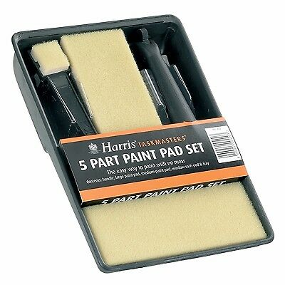 Harris Taskmasters 5 Part Paint Pads Set Paint Tray For Emulsion Painting