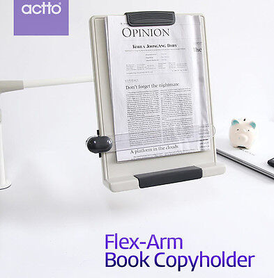 Flex Arm Book Copy holder Desk Top Book Document Reading Stand Clamp Type BCH-07