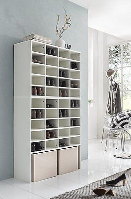 schuhregal f r 40 paar schuhe schuhschrank schuhst nder. Black Bedroom Furniture Sets. Home Design Ideas