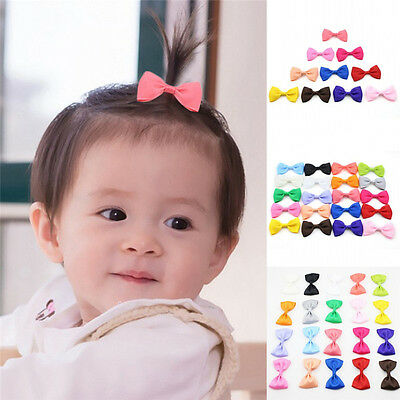 20Pcs Cute Lovely Bow Bowknot Hair Clip for Kids Baby Girls Toddler Infant