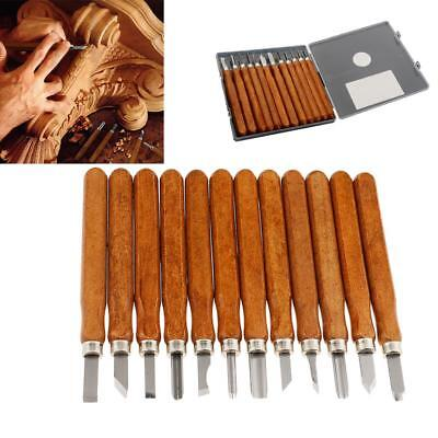 12pcs Wood Handle Carving Chisel Set Professional Wood Carving Tools with Case