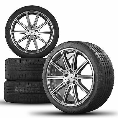 original 19 inch rims Mercedes E-class E63 AMG W212 winter tyres winter wheels