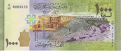 Syria, 2013 1000 Pounds P116a  ((Unc))