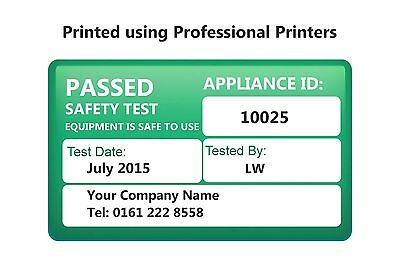 1040 PAT Test Labels Personalised - Portable Appliance Stickers for Plugs