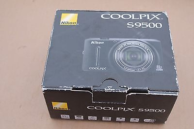 Nikon COOLPIX S9500 18.1MP Digital Camera - Black w/box