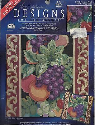 Formal Fruit Pillow Cushion 14ct Needlepoint Canvas Designs for the Needle - LA