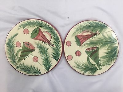Gail Pittman Signed Handpainted 97' Set of 2 Trivets