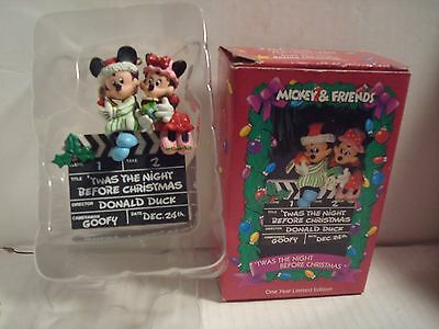 Mickey And Friends 'Twas The Night Before Christmas Limited Edition Ornament(LN)
