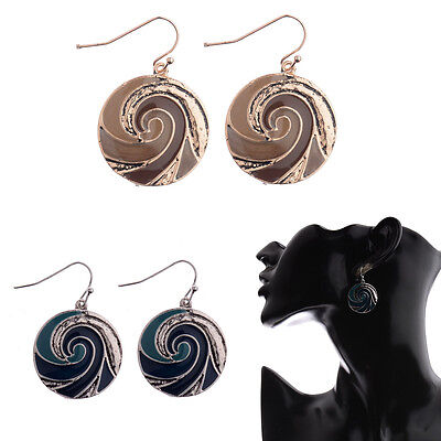 2017 Bohemian Zinc Alloy Plated Two Colors Round Drop Women Fashion Earrings