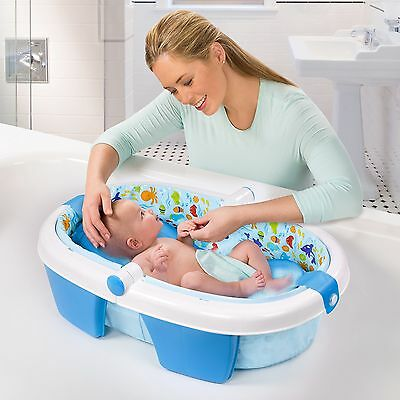 Summer Infant TOP QUALITY NEW COMPACT Newborn To Toddler Fold Away Baby Bath