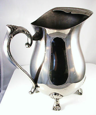 Vintage Leonard Silverplate Footed Pitcher with Ice Catcher