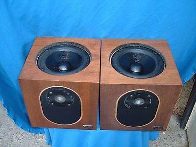 ALLISON CD 6 SPEAKERS bookshelf UNIQUE great sound replaced woofer surrounds