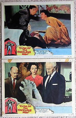 CURSE OF THE FACELESS MAN ORIG 1958 SET OF 2 LC's 11X14 VG-NM