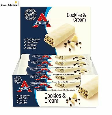 Vegetarian Low Carb Reduced Snack Bar Cookies & Cream Low Sugar High Protein New