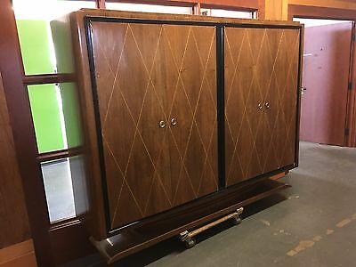 French Art Deco Mid Century Large Paolo Buffa Style Armoire or Media Cabinet