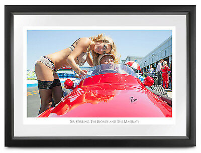 Stirling Moss SIGNED The Blonde & The Maserati, limited edition A/P, 35x50cm COA