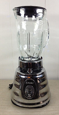 Osterizer Classic Blender Bee Hive 2 Speed Chrome Finish Vintage Glass Pitcher
