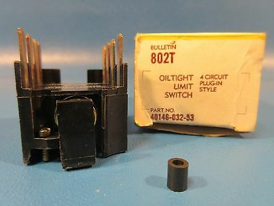 Allen Bradley 40146-032-53, 802T Oiltight Limit Switch, 4-Circuit Plug-In Style
