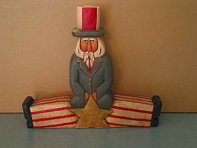 Uncle Sam doing the splits by Whispering Pines Carving