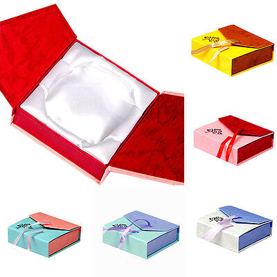 GUT Square Package Bracelet Bangle Jewelry Bowknot Display Box Gift Present Case