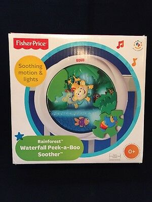 Fisher-Price Rainforest Peek-a-Boo Soother, Waterfall,Adjustable Volume Low-High