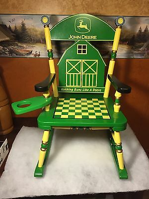 John Deere Child's Rocking Chair 2004 Hamilton Authenticated Licensed ProductNEW