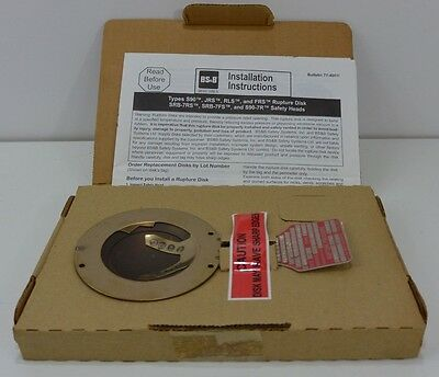 NIB BS&S Safety Systems 124071 Rupture Disc - Lot#: A2070693A-2