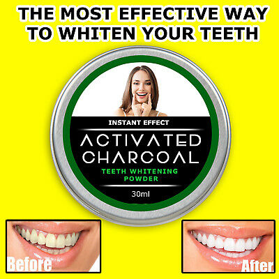 Teeth Whitening Stain Remover Powder Bad Breath Activated Coconut Shell Charcoal