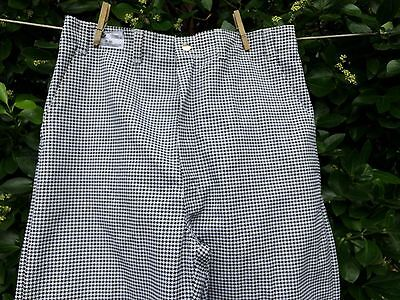 Best Mfg. Pants Chef Uniform Black & White Checkered Poly Cotton  38 x 30