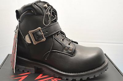 Z1R Trekker Black Leather Boots Motorcycle 9 / 42  + Free Ship Canada Usa!