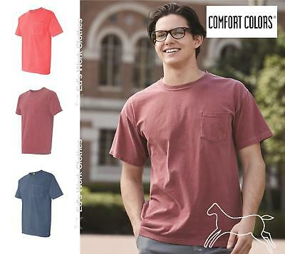Comfort Colors Mens Pigment Dyed Short Sleeve Shirt with a Pocket 6030 Up to 3XL