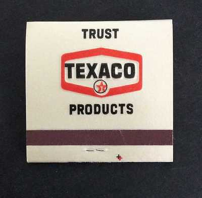 "One (1) Vintage ""Trust Texaco Products"" Texaco Matchbook Oil & Gas Advertising"
