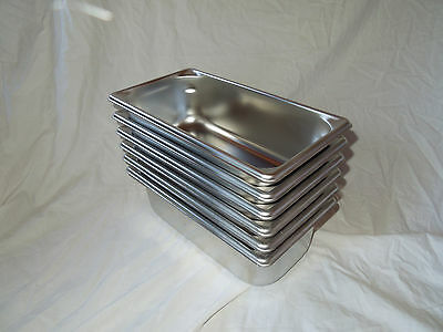 6 Vollrath 30342 Super Pan V Third Size 4 in Deep Steam Table / Hotel Pans