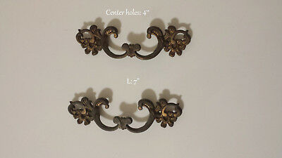 French Provincial Dresser CHEST VINTAGE Handle SET *FREE SHIPPING*