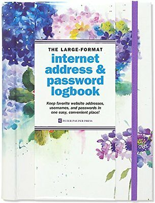 FREE 2 DAY SHIPPING: Hydrangeas Large-Format Internet Address & Password Logbook
