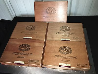 Padron 4000 Wooden Cigar Boxes LOT OF 5! 11x7x2 A