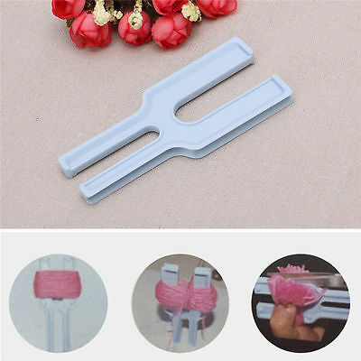 Simple Easy Pompom Maker Fluff Ball Weaver Needle Weaving Knitting Wool Tool DIY
