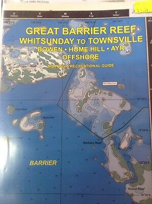 Camtas Marine Safety Chart Great Barrier Reef: Whitsundays To Townsville