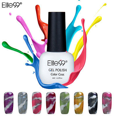 Elite99 Changeable Gel Nail Polish UV LED Color Lacquer Halo Marble Effect Salon