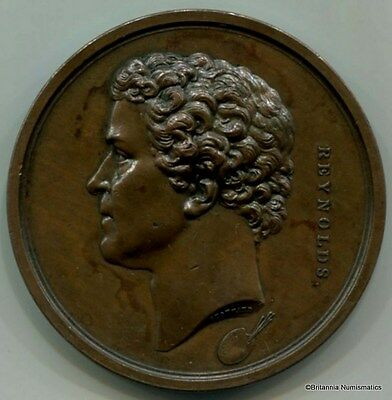 GREAT BRITAIN Joshua Reynolds 1845 Copper 58mm  Medal by A. J. Stothard Inv 7381