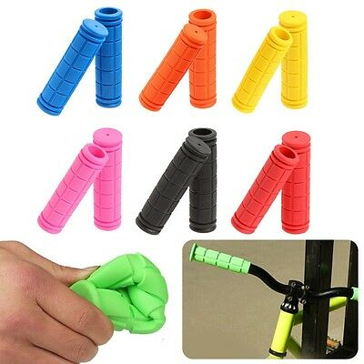 AU 2xNon Slip Bike Bicycle Handle Cover Cycling Handlebar Grip Soft Rubber Cover