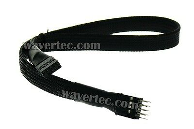 30cm 1Ft Motherboard USB2.0 Header Extension Cable 9 Pin Male to Female Meshed