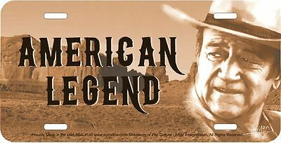 John Wayne AMERICAN LEGEND new metal license plate for Rodeo & Country Music fan