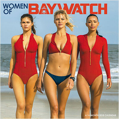 Women of Baywatch Movie 16 Month 2018 Photo Wall Calendar NEW SEALED