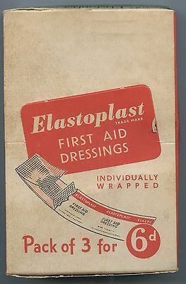 1940's New Old Stock Chemist Shop Full Display Box Elastoplast First Aid Packets