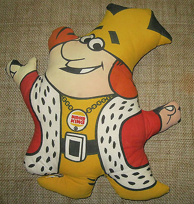 Vintage 1973 Burger King Collectible Plush Doll Toy Pillow Ex+ Cond Very Clean