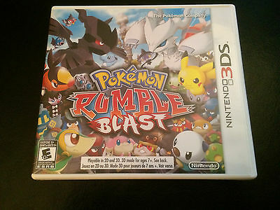 Pokemon Rumble Blast - Nintendo 3DS - Complete in Box CIB - Great Condition!