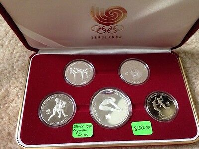 Silver Seoul 1988 coin collection